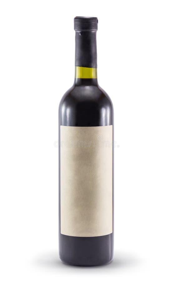 Butelka wino na białym tle obrazy stock