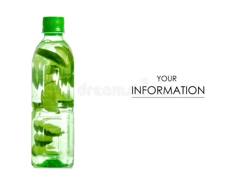 Butelka woda z wapno wzorem zdjęcia royalty free