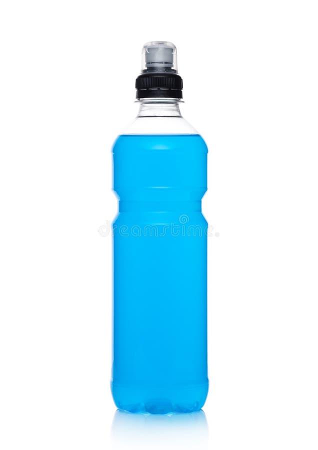 Butelka wodnego sporta energetyczny napój na bielu obraz stock