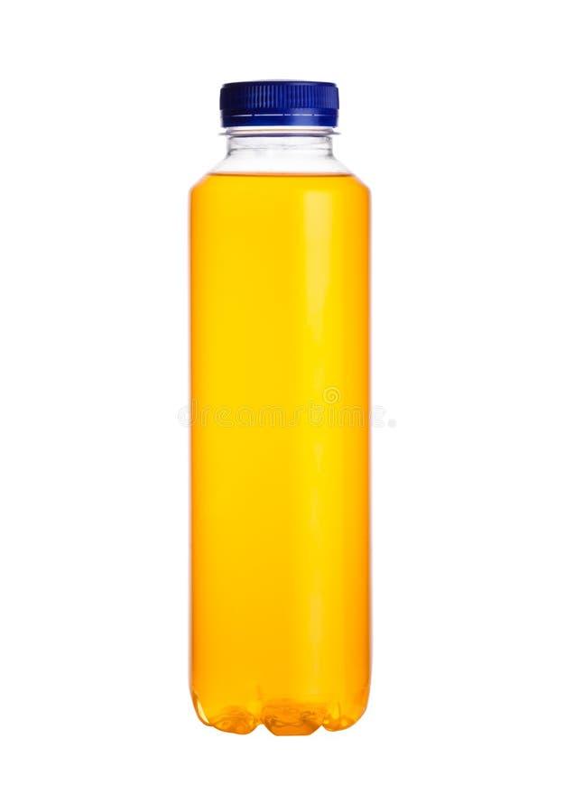 Butelka wodny zasilany energetyczny napój odizolowywający obraz stock