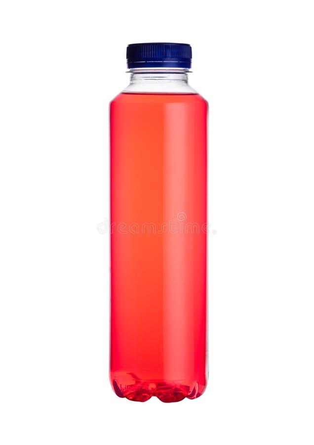 Butelka wodny zasilany energetyczny napój odizolowywający zdjęcia stock