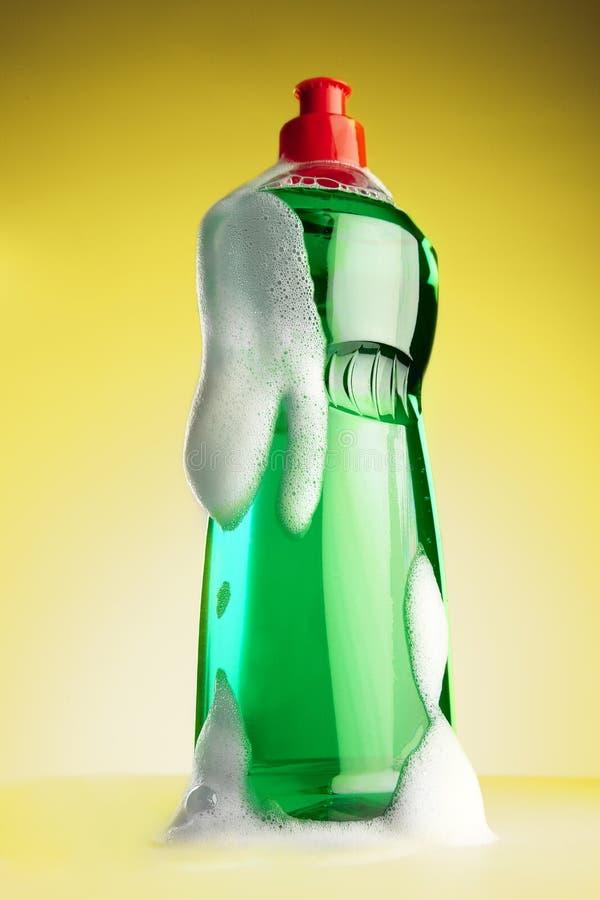 butelka zakrywająca detergentu piana folująca obraz royalty free