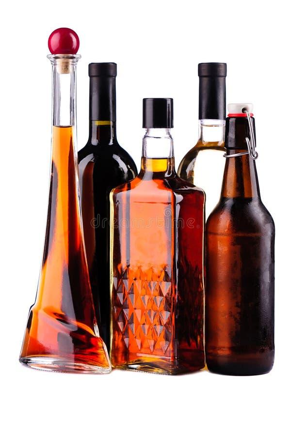 Butelki alkohol obraz stock
