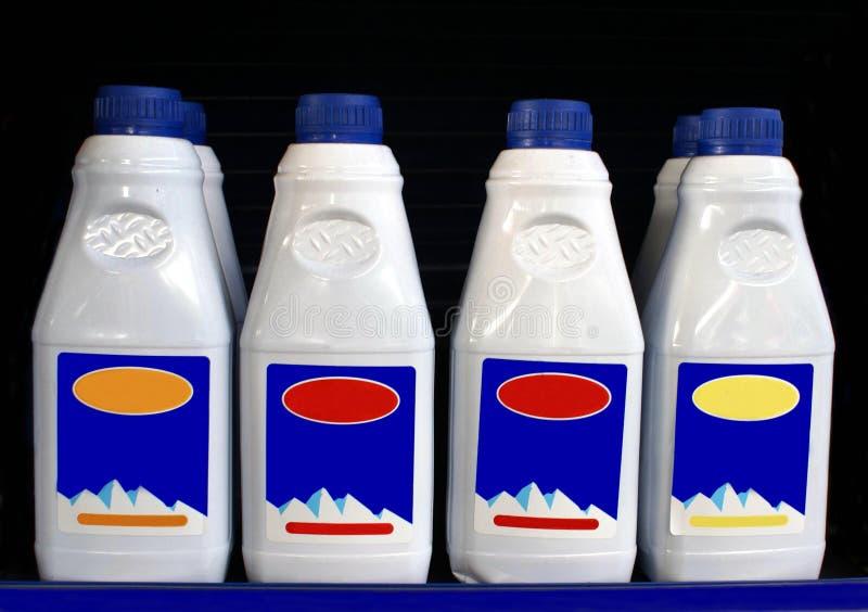 Butelki antifreeze i coolant dla samochodów zdjęcie royalty free