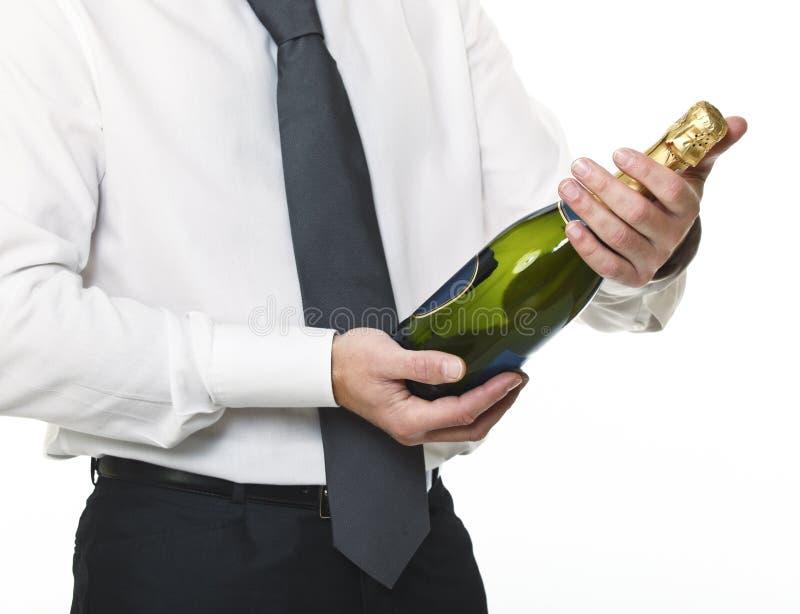 butelki biznesmena szampan fotografia royalty free