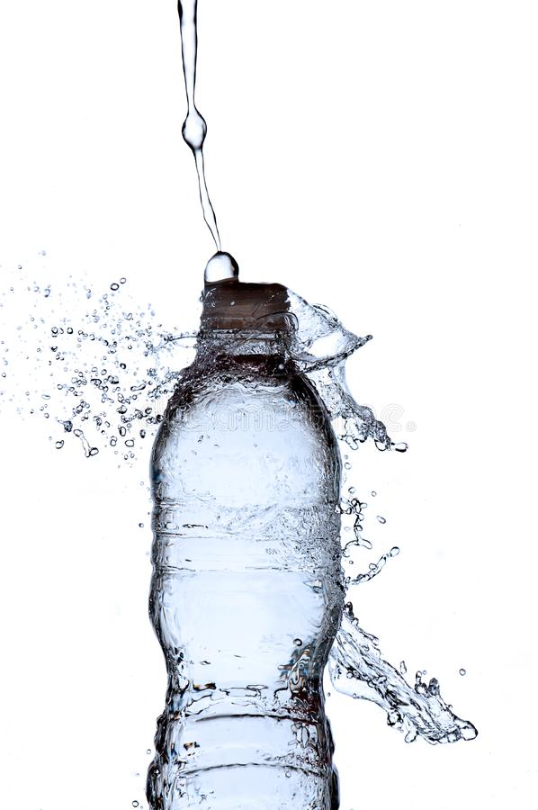 Butelki Chełbotania Woda Zdjęcie Stock
