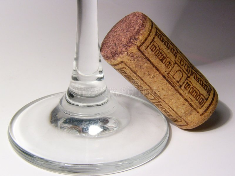 Butelki Cork Korkiem Obrazy Stock