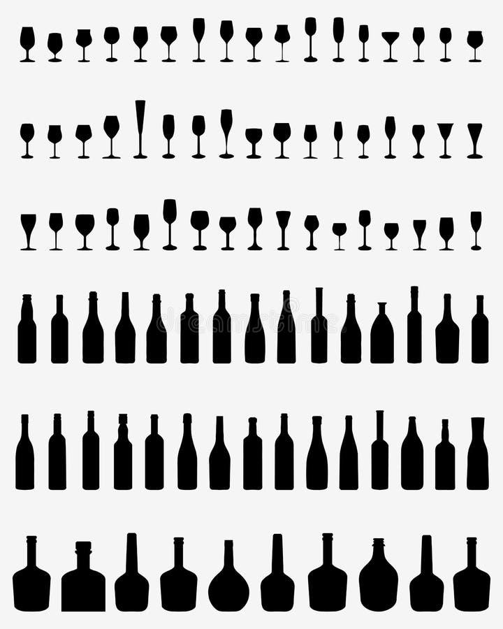 Butelki i Szkła ilustracji