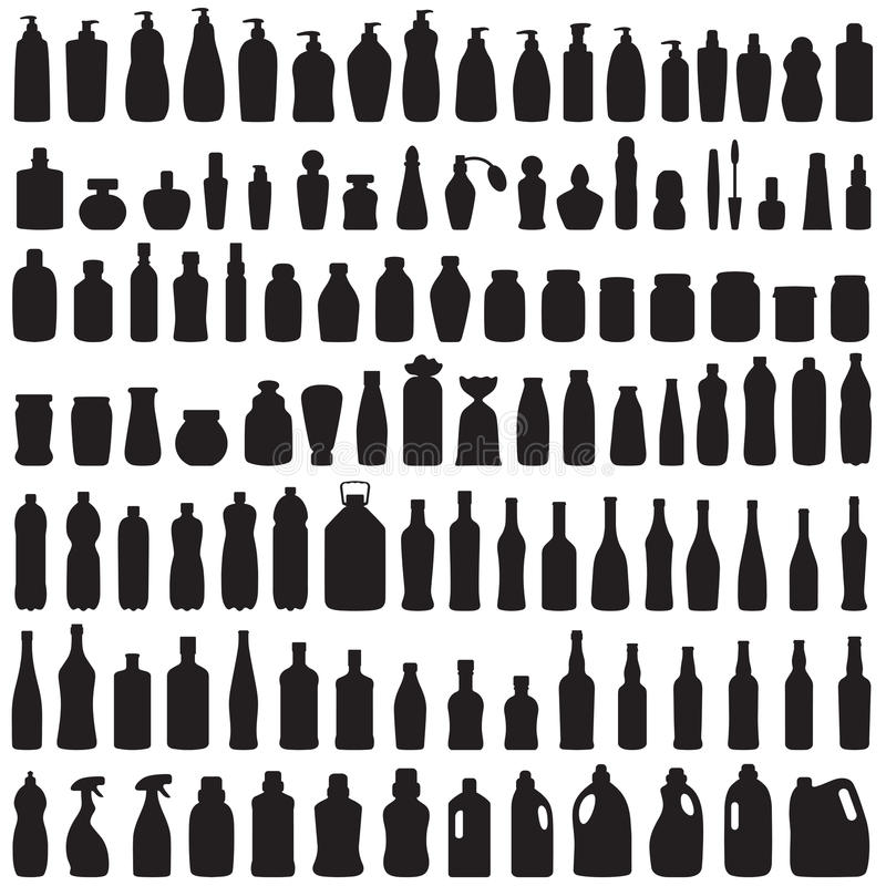 Butelki ikona royalty ilustracja