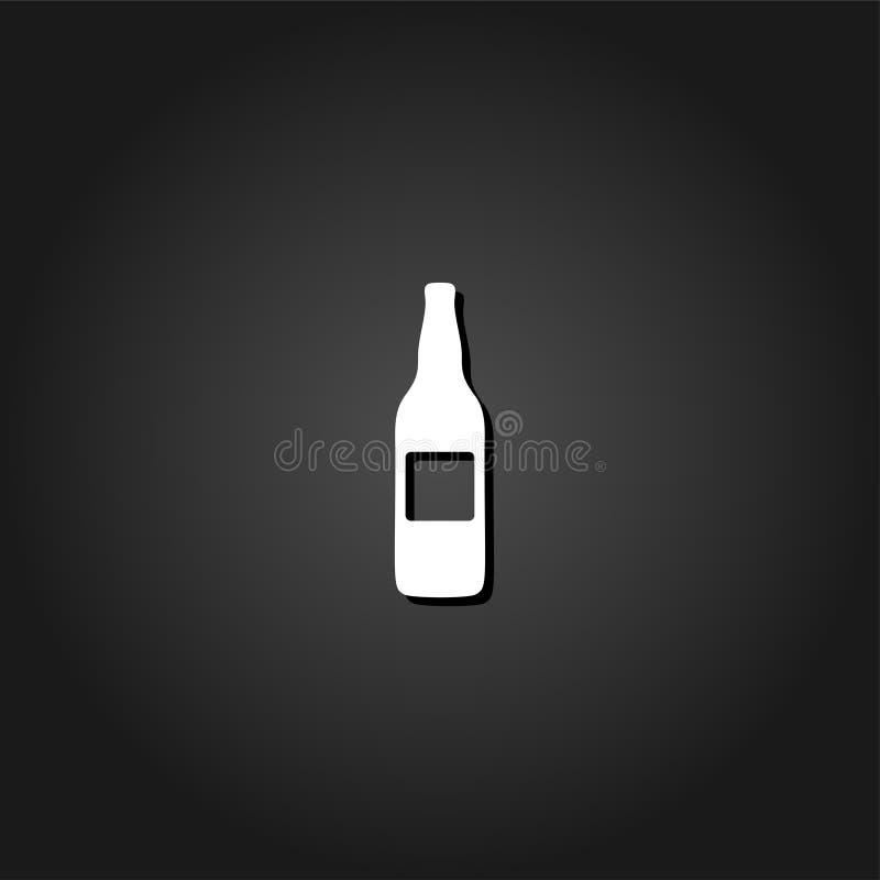 Butelki ikony mieszkanie ilustracji