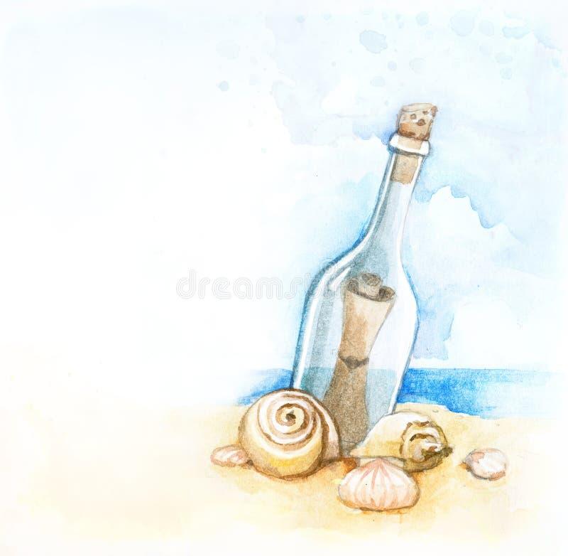 butelki ilustraci wiadomość royalty ilustracja