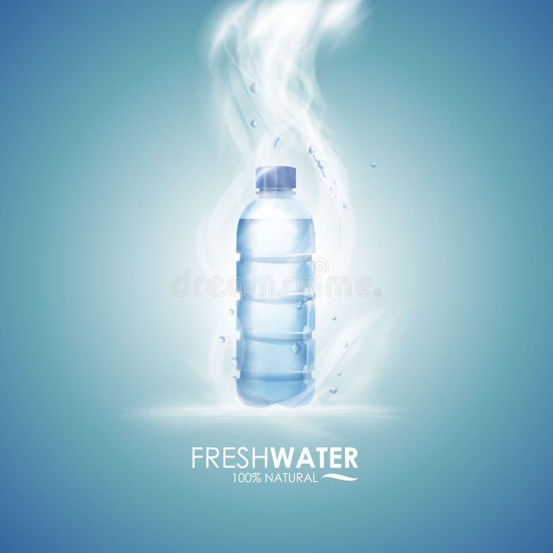 butelki ilustracyjna raster wersi woda royalty ilustracja