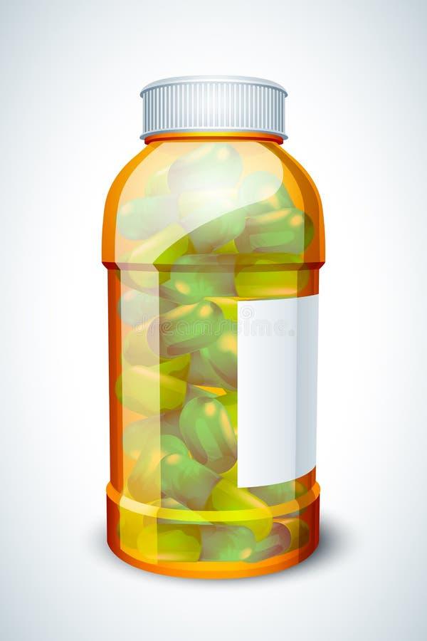 butelki kapsuła royalty ilustracja