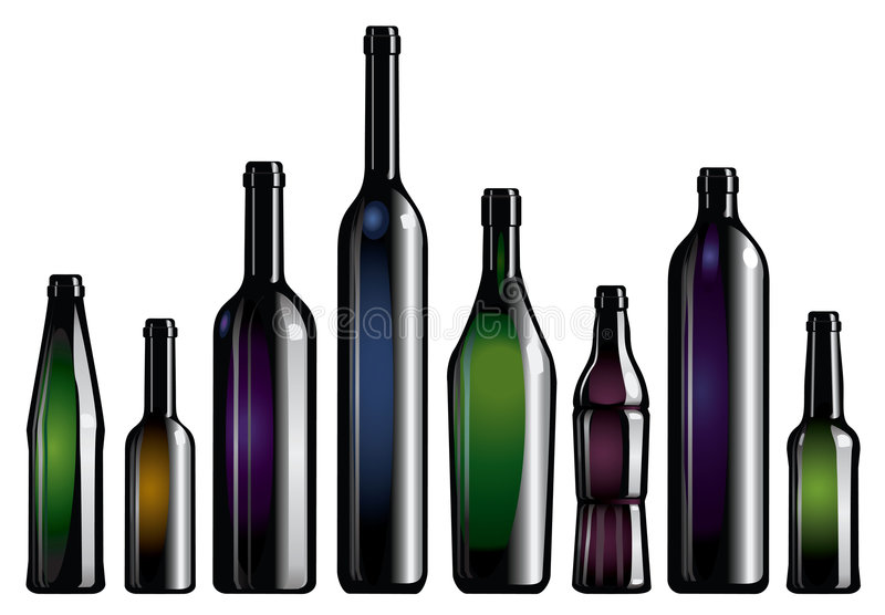 butelki kolekcja royalty ilustracja