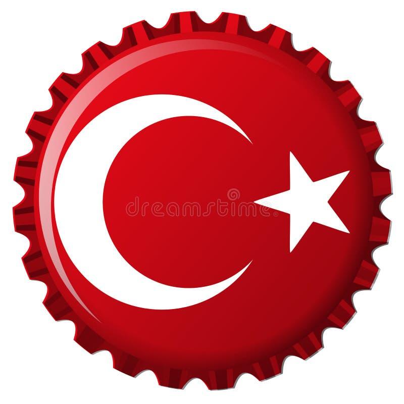 butelki nakrętki flaga stylizowany indyk ilustracji