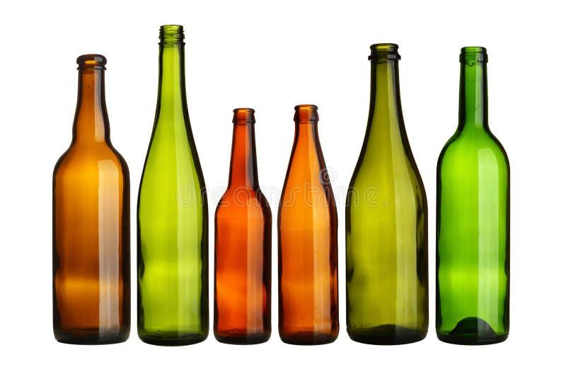 butelki opróżniają fotografia stock