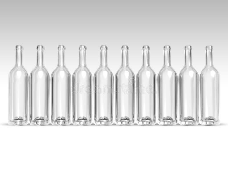 butelki opróżniają royalty ilustracja