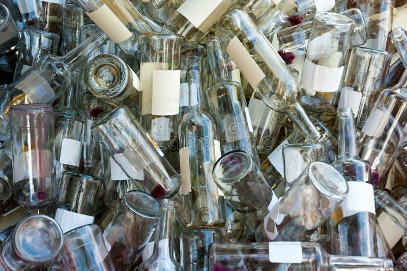 butelki opróżniają wino obraz royalty free