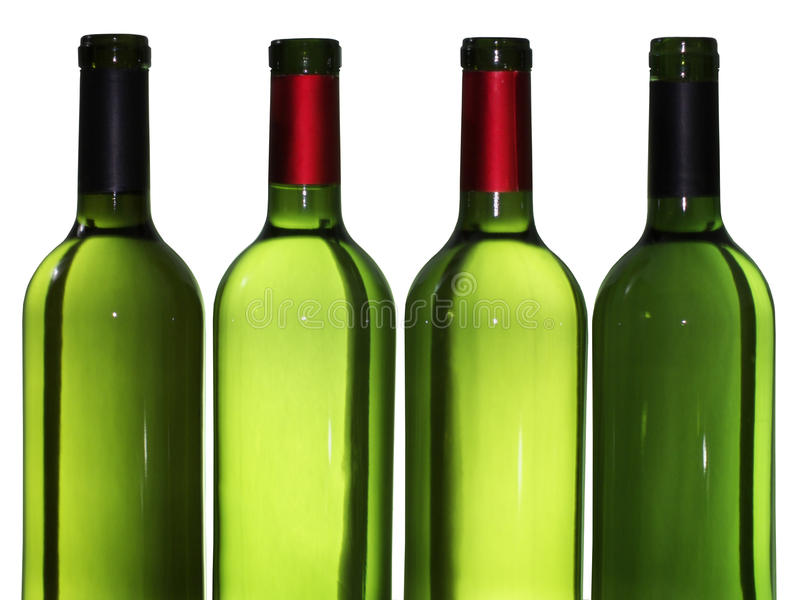 butelki opróżnione wino obraz royalty free