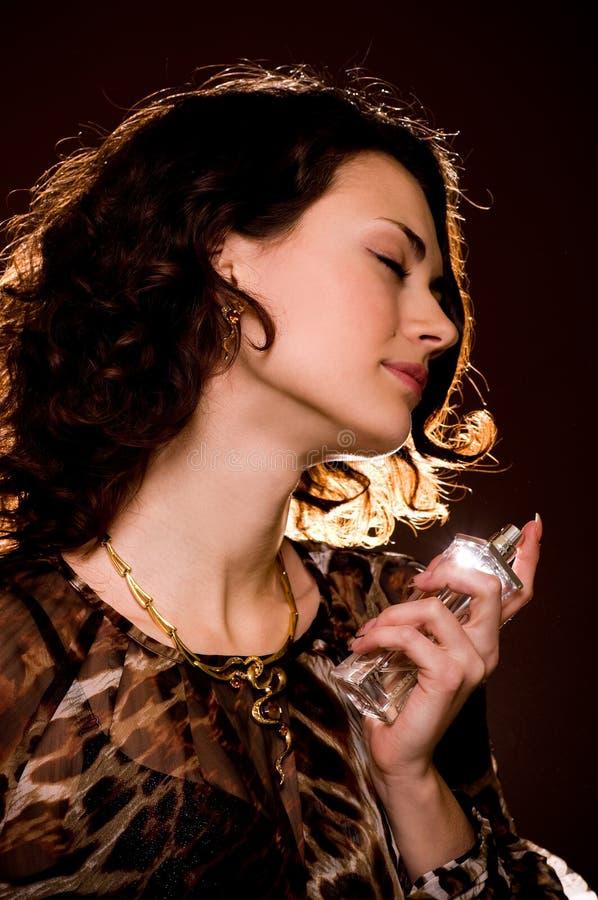 butelki pachnidła kobiety potomstwa obrazy stock