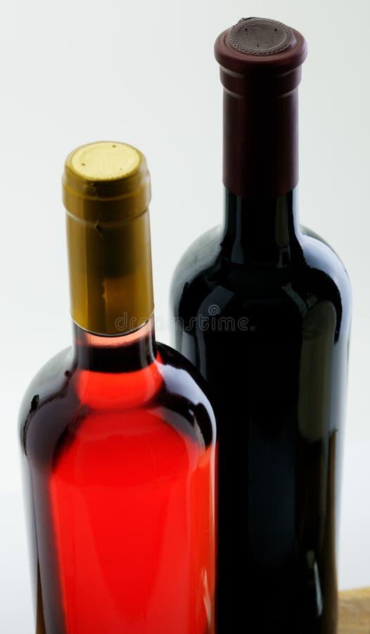 butelki pieczętowali wino dwa fotografia stock