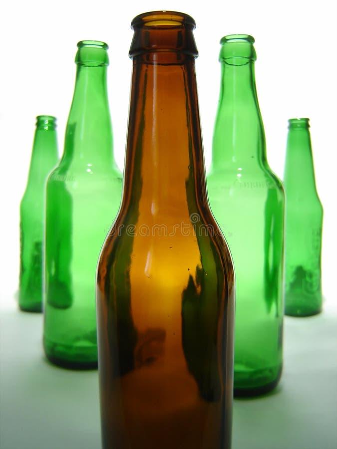 butelki po piwie zdjęcia stock