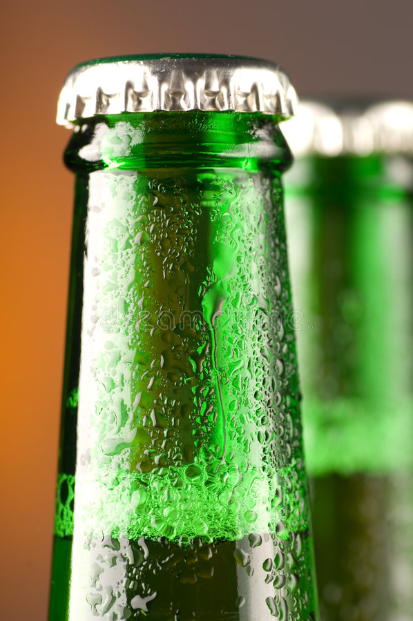 butelki po piwie fotografia stock