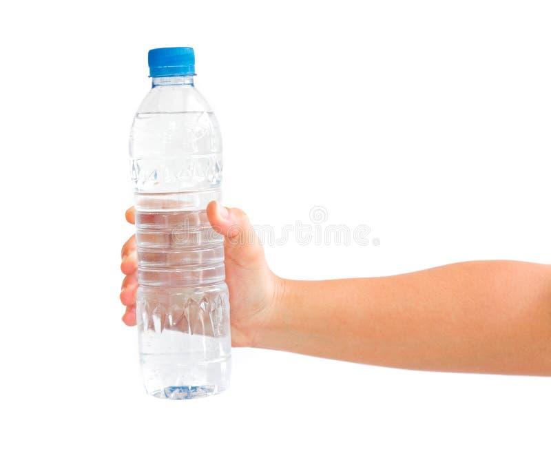 butelki ręki mienia woda obrazy royalty free