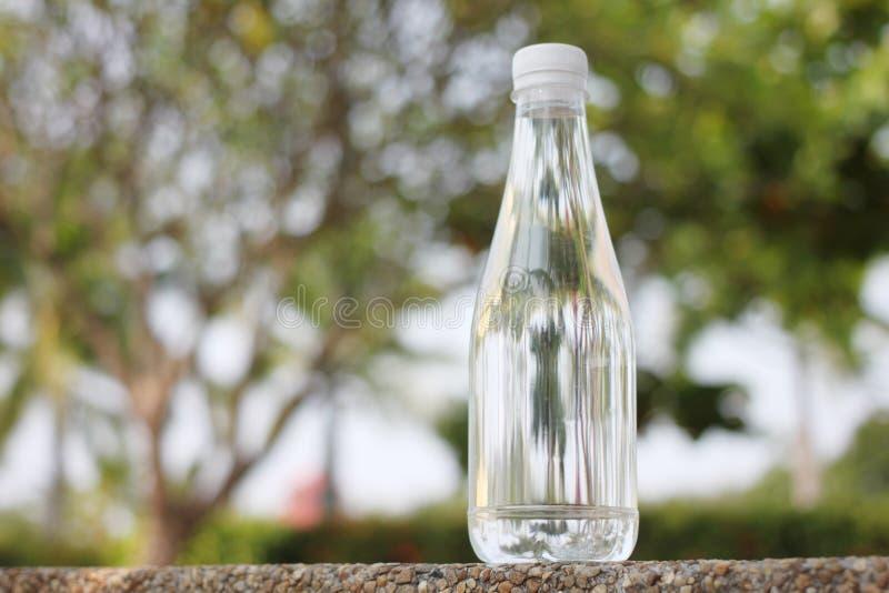 Butelki robić od naturalnej wody mineralnej umieszczającej woda pitna obrazy royalty free
