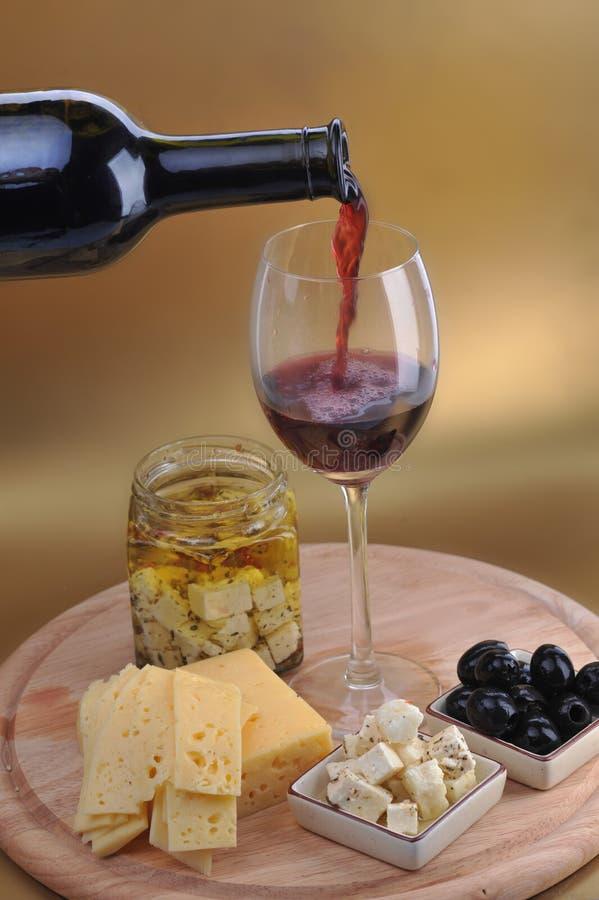 butelki serowy oliwek wino zdjęcia royalty free