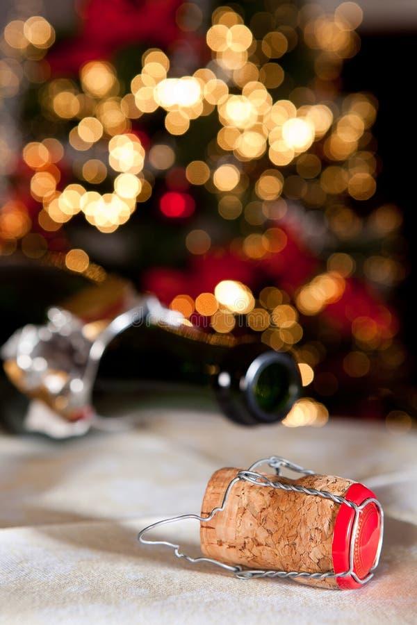 butelki szampana korek fotografia stock