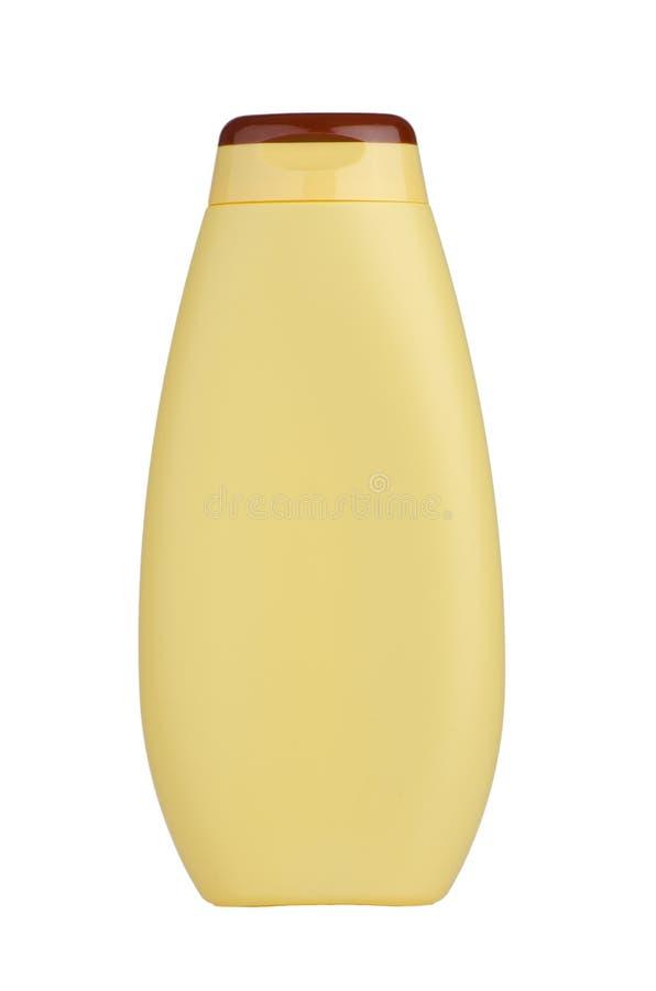 butelki szamponu kolor żółty obraz royalty free