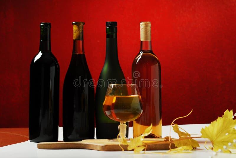 butelki szkła wino obrazy stock