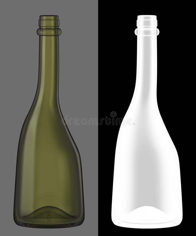 butelki szkła zieleni wino zdjęcia royalty free