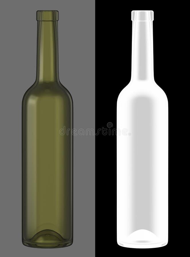 butelki szkła zieleni wino obrazy royalty free