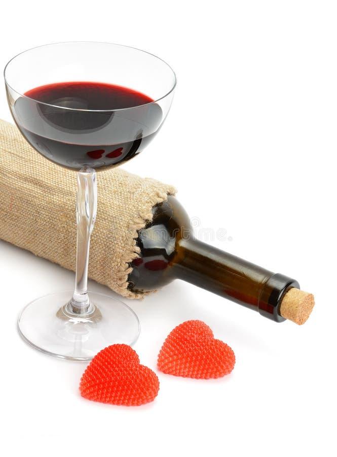 butelki szkieł wino zdjęcie stock