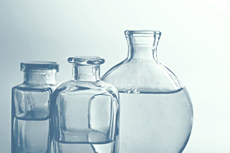 butelki szklankę ii fotografia royalty free