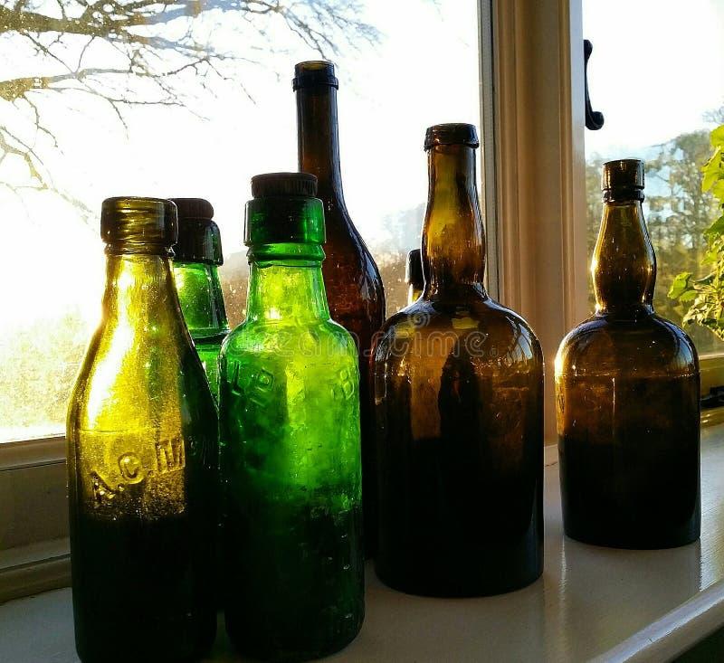 Butelki w słońcu zdjęcie stock