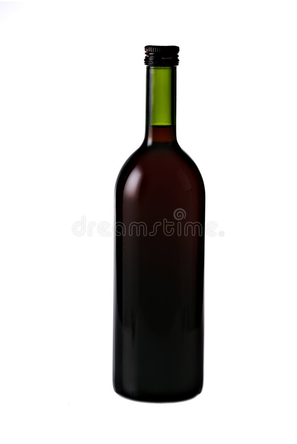 butelki wina w izolacji obrazy stock
