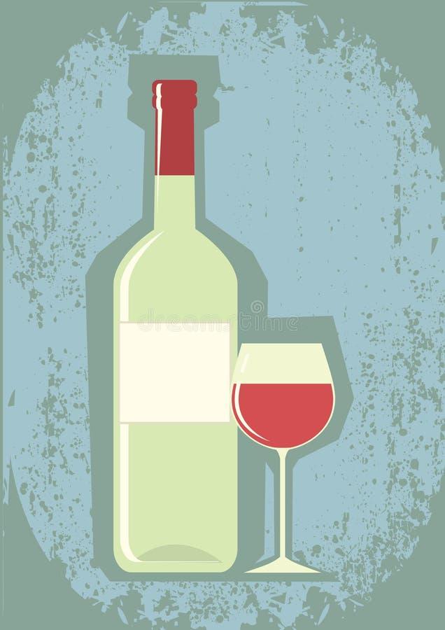butelki wina wineglass ilustracja wektor