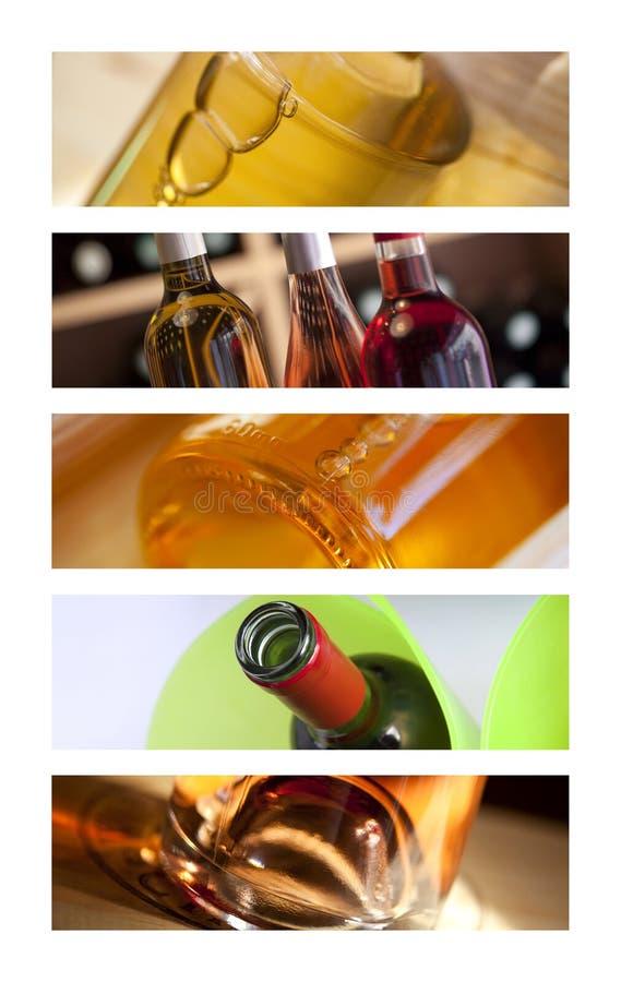 Butelki wino zdjęcia royalty free