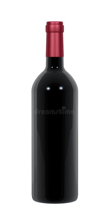 butelki wino royalty ilustracja