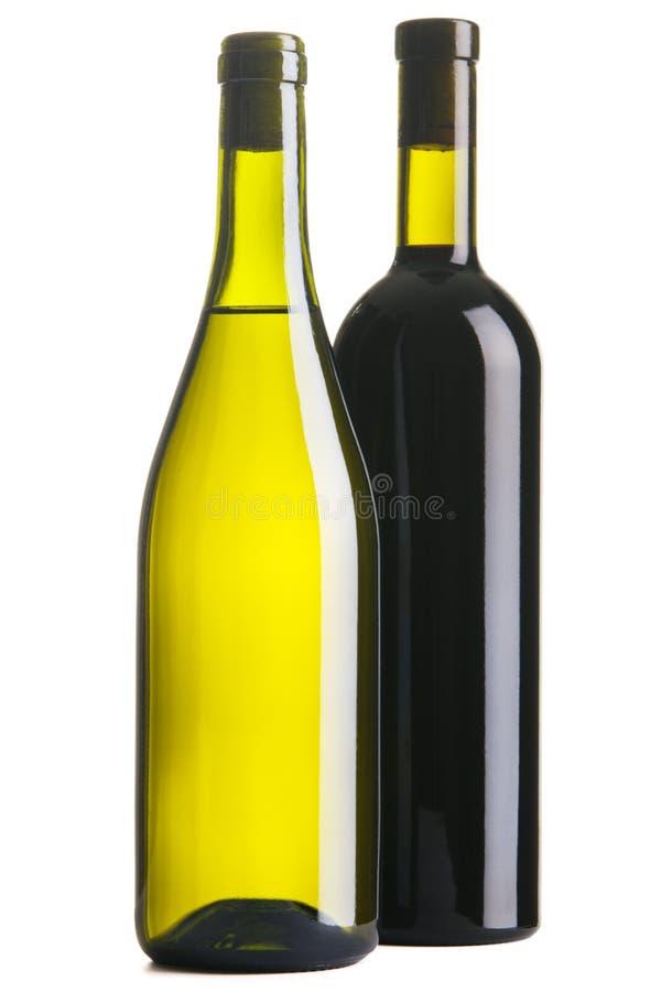 butelki wino dwa obraz royalty free