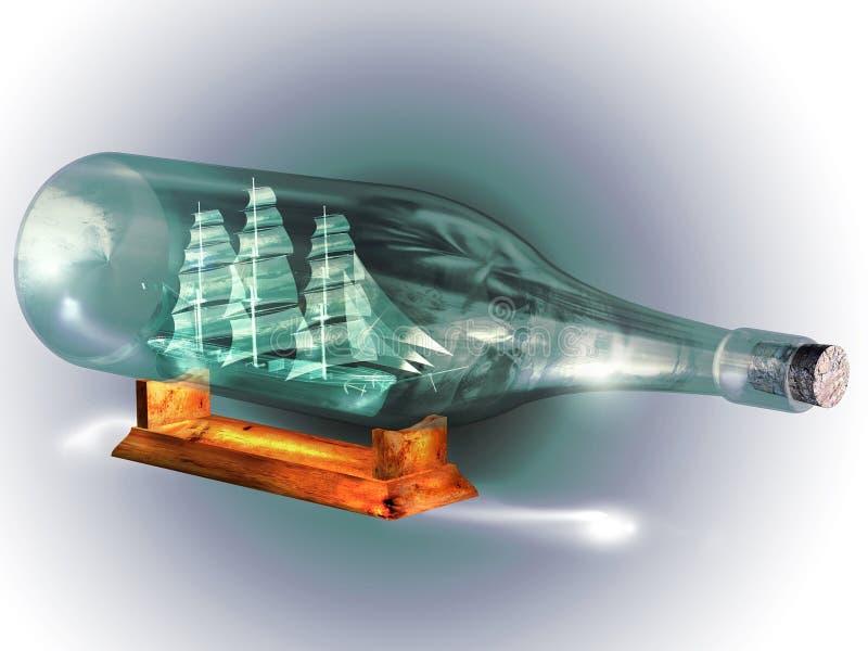 Butelkowy statek ilustracji