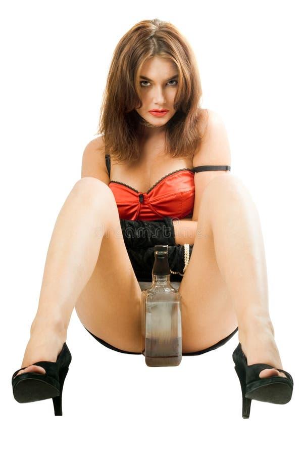 butelkuje ładnej nogi jej kobiety obrazy royalty free