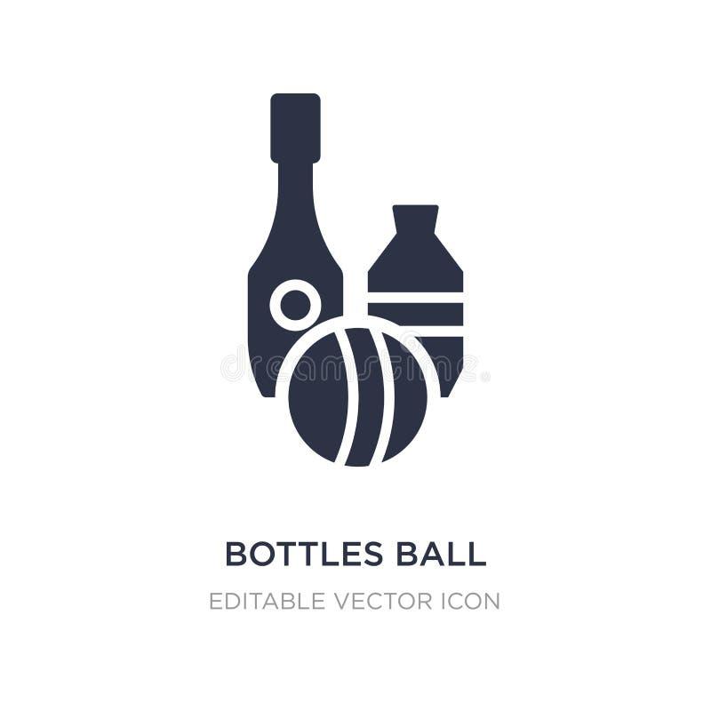 butelkuje balową ikonę na białym tle Prosta element ilustracja od rozrywki pojęcia royalty ilustracja
