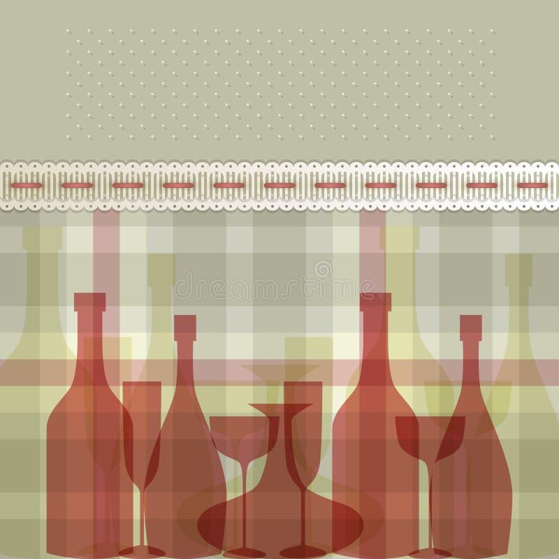 butelkuje czerwień ilustracji
