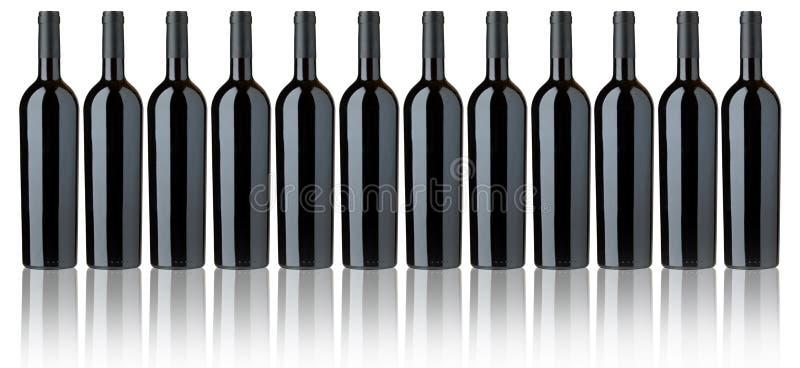 butelkuje czerwone wino royalty ilustracja