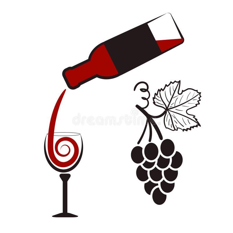 Download Butelkuje Szkła Ustawia Biały Wino Siedem Sześć Butelka Wino, Wineglass I Wiązka Winogrona, Ilustracja Wektor - Ilustracja złożonej z lista, wino: 65226157