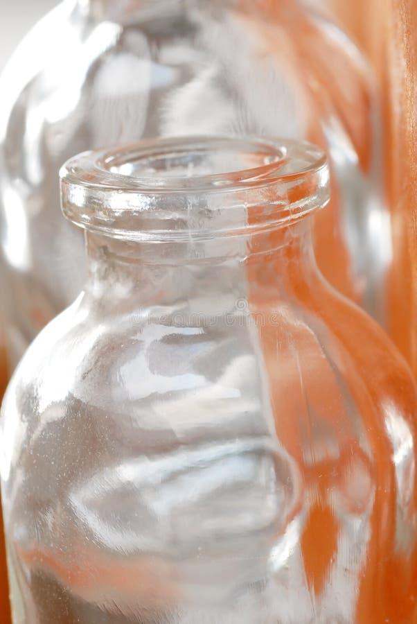 butelkuje szkło dwa zdjęcia royalty free